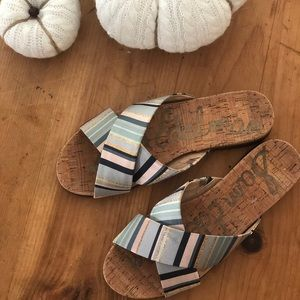 Sam Edelman Multi-color Hattie Criss-Cross Slide
